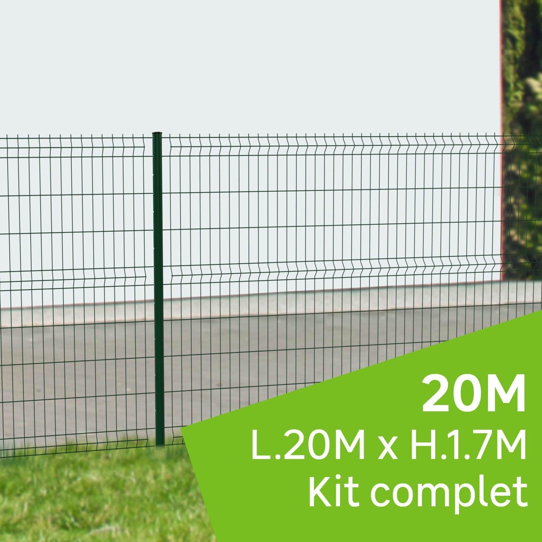 kit grillage rigide 20 m sur platine naterial vert h17