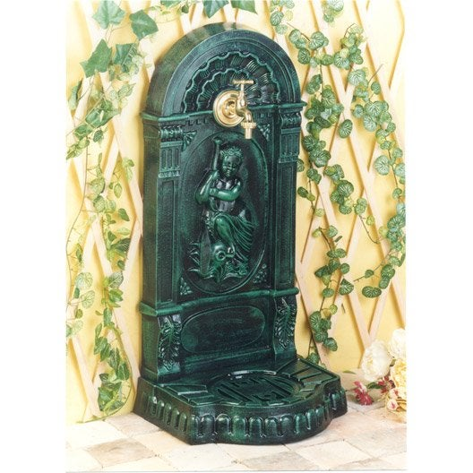 fontaine de jardin en fonte vert jouvenceau leroy merlin. Black Bedroom Furniture Sets. Home Design Ideas