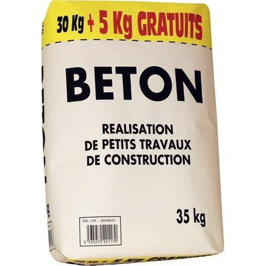 B ton pr t l 39 emploi 30kg 5 kg gratuits leroy merlin - Prix sac ciment leroy merlin ...