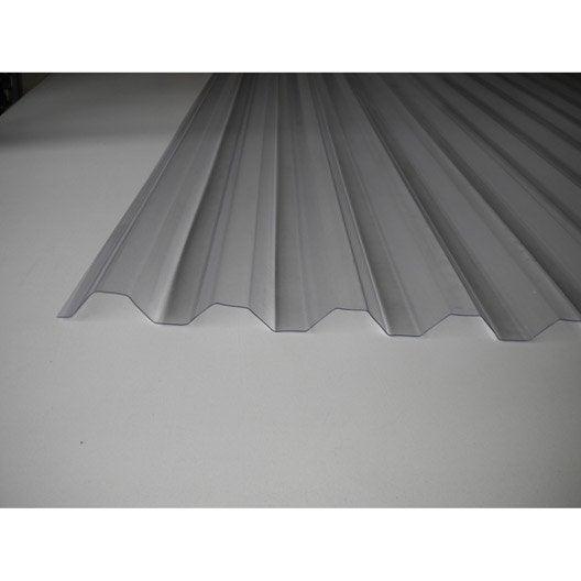 plaque pvc onde gr ca translucide 3 x sunclear leroy merlin. Black Bedroom Furniture Sets. Home Design Ideas