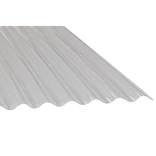 Plaque pvc petites ondes translucide 3 x sunclear for Tole ondulee translucide leroy merlin