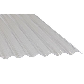 Plaque polyester petites ondes translucide , 3 x 0.9m, DHAZE