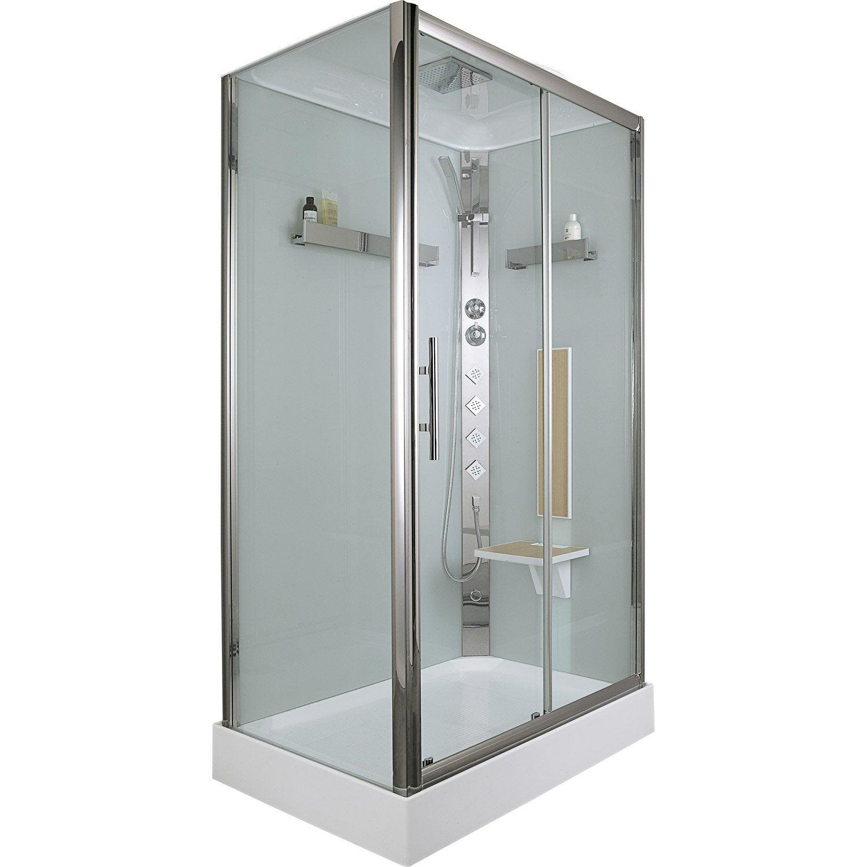 cabine de douche rectangulaire 120x80 cm ilia ch ne droite leroy merlin. Black Bedroom Furniture Sets. Home Design Ideas