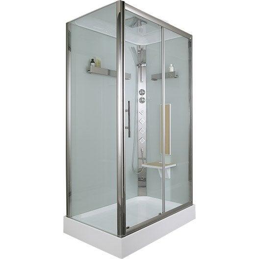 Cabine de douche rectangulaire 120x80 cm ilia ch ne - Notice de montage cabine de douche aurlane ...