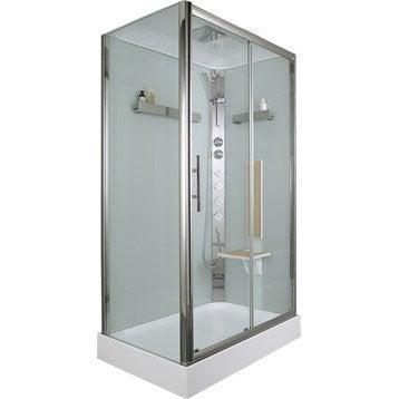 cabine de douche hydromassante ilia ch ne rectangulaire 120x80 cm. Black Bedroom Furniture Sets. Home Design Ideas