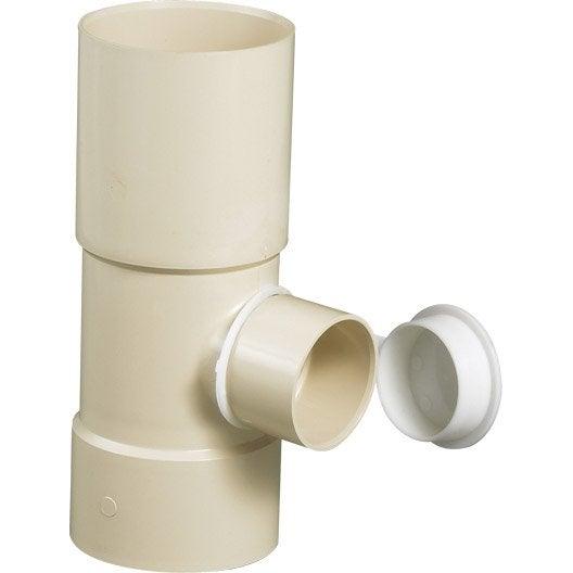 collecteur d 39 eau diam 50mm en pvc sable leroy merlin. Black Bedroom Furniture Sets. Home Design Ideas