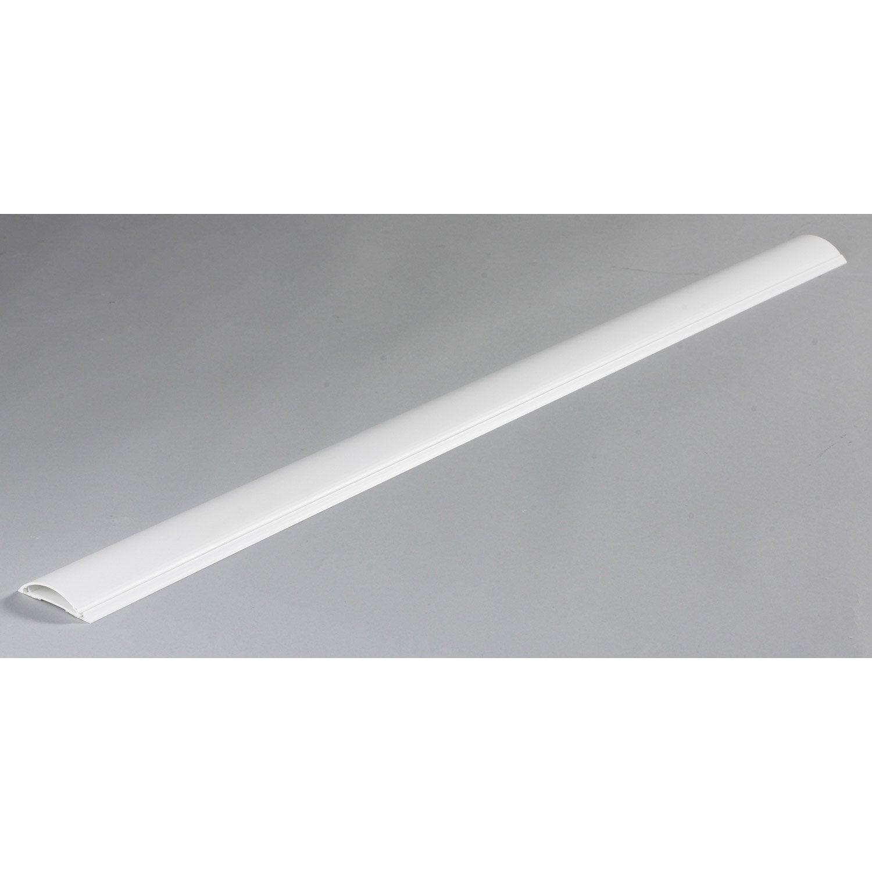 Cache Câble Blanc Pour Moulure, H.100 X P.7 Cm