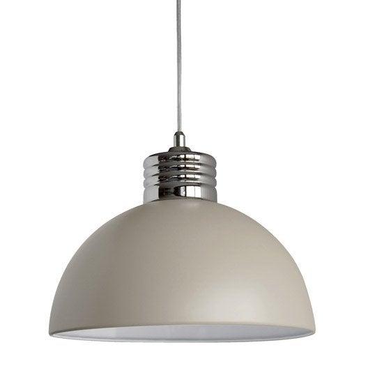 suspension e27 design charlie m tal taupe 1 x 40 w seynave leroy merlin. Black Bedroom Furniture Sets. Home Design Ideas