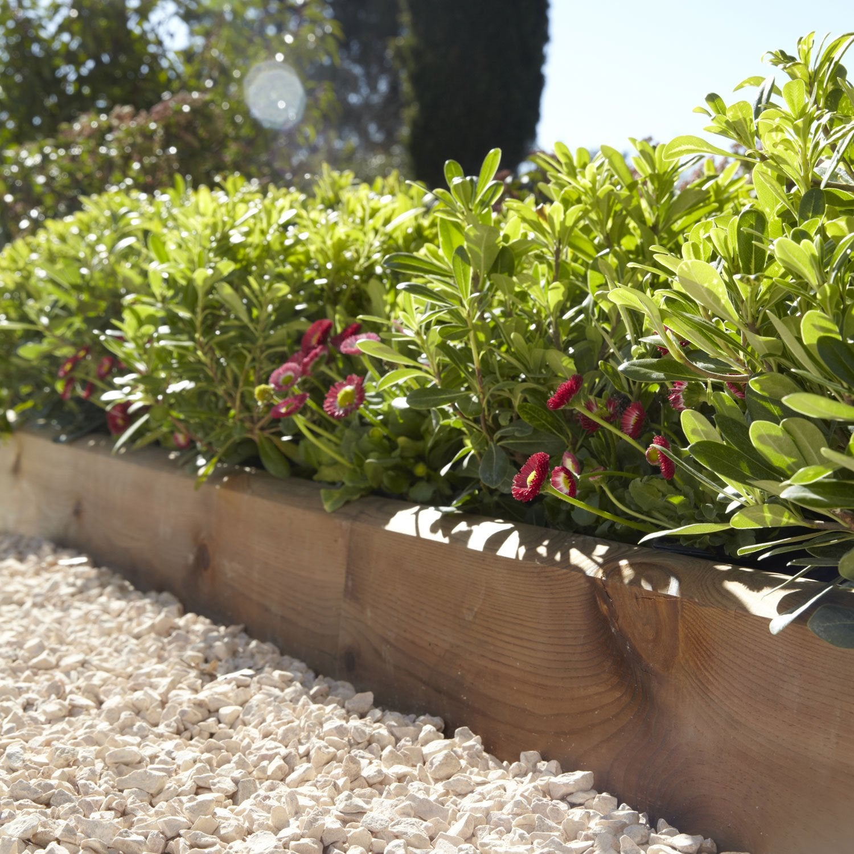 Bordure De Jardin Economique > Bordure Planter Kuhmo Bois Marron H 20 X L 120 Cm Leroy Merlin