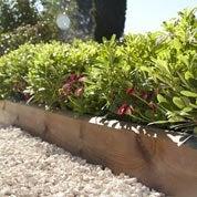 Bordure à planter Kuhmo bois marron, H.20 x L.120 cm