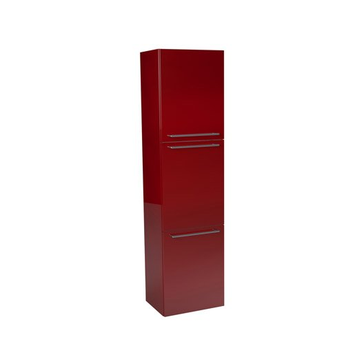 Colonne sensea remix rouge cm 3 portes for Colonne de salle de bain leroy merlin