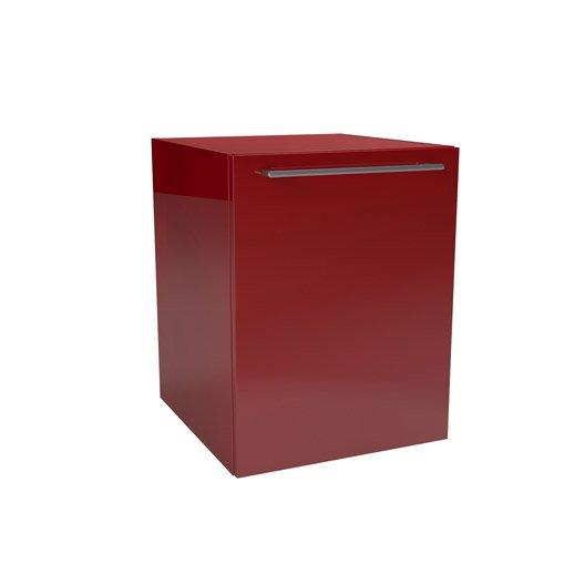 caisson meuble bas sensea remix rouge cm 1 porte leroy merlin. Black Bedroom Furniture Sets. Home Design Ideas