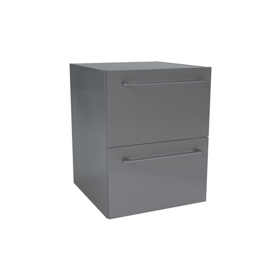 caisson meuble bas sensea remix gris cm 2 tiroirs leroy merlin. Black Bedroom Furniture Sets. Home Design Ideas
