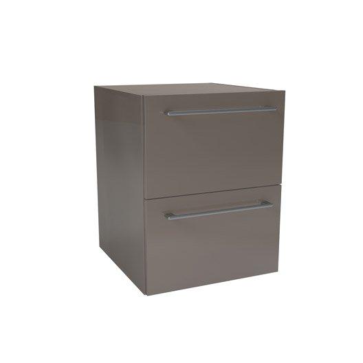 caisson meuble bas sensea remix taupe cm 2 tiroirs leroy merlin. Black Bedroom Furniture Sets. Home Design Ideas