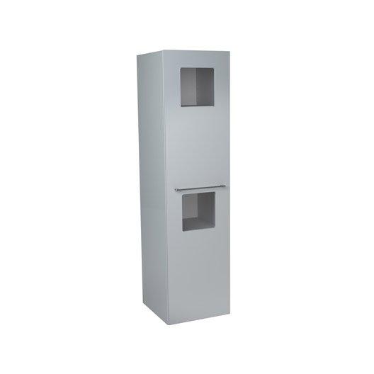 colonne ling re sensea remix blanc cm 1 porte leroy merlin. Black Bedroom Furniture Sets. Home Design Ideas
