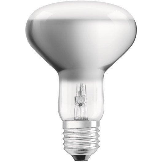 ampoule r flecteur halog ne 77w 580lm quiv 100w e27 2700k osram leroy merlin. Black Bedroom Furniture Sets. Home Design Ideas