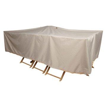 Housse de protection pour table et chaises innov 39 axe 240 x 130 x 60 cm - Housse de protection salon de jardin leroy merlin ...
