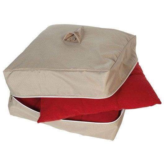 housse de protection pour galette de chaise innov 39 axe 42 x 42 x 20 cm leroy merlin. Black Bedroom Furniture Sets. Home Design Ideas