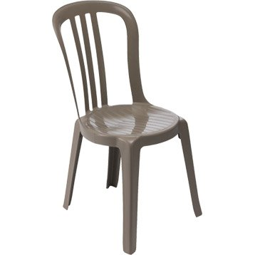 Chaise de jardin en résine Miami taupe