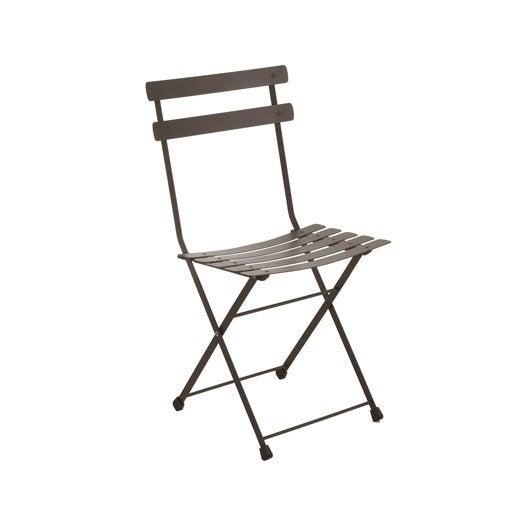 Chaise de jardin en acier rainbow bronze leroy merlin for Chaise pour bronzer