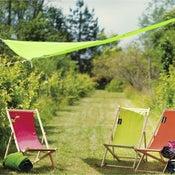 Voile d'ombrage triangle vert granny L.390 x l.390 cm
