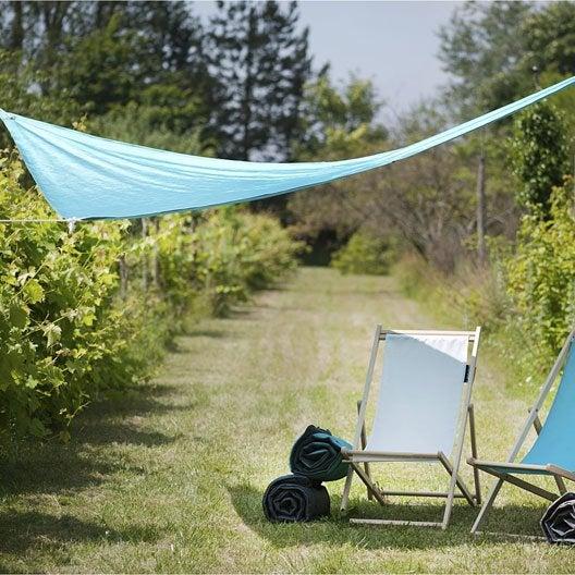 Voile d 39 ombrage toile tendue terrasse jardin leroy merlin - Leroy merlin voile d ombrage ...