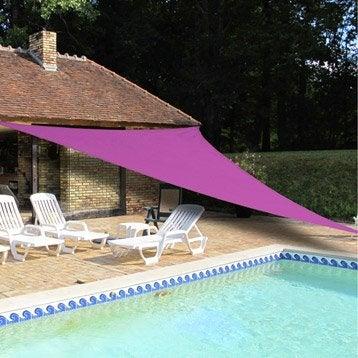 voile d 39 ombrage triangulaire rose 500 cm. Black Bedroom Furniture Sets. Home Design Ideas