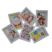 Cadre multivue 6 vues, 10 x 15 cm, blanc