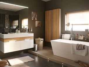 Une salle de bain adapt e au handicap leroy merlin - Concevoir une salle de bain ...