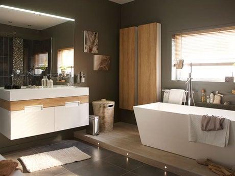 Bien concevoir une salle de bains facile vivre leroy - Concevoir sa salle de bain ...