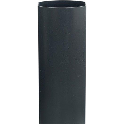 tuyau de descente pour goutti re ondella ardoise pvc l 3 m leroy merlin. Black Bedroom Furniture Sets. Home Design Ideas