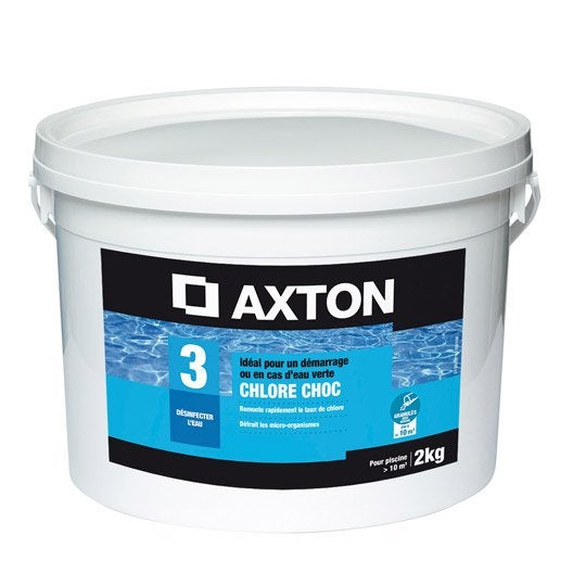Chlore choc piscine axton granul 2 kg leroy merlin for Chlore choc pour piscine