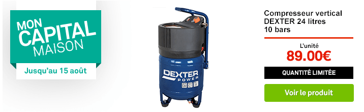 Capital Maison - Compresseur de chantier DEXTER POWER 24 l 2 cv