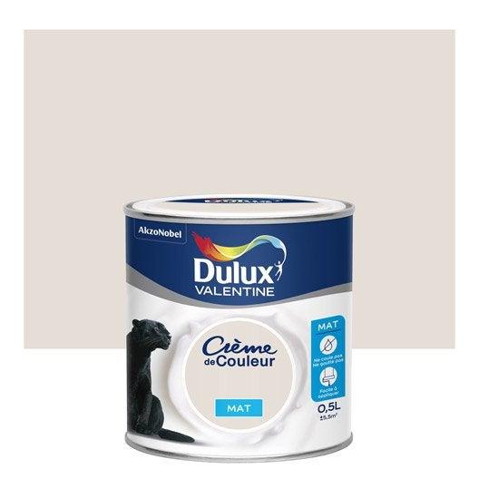 peinture lin blanc mat dulux valentine cr me de couleur 0 5 l leroy merlin. Black Bedroom Furniture Sets. Home Design Ideas