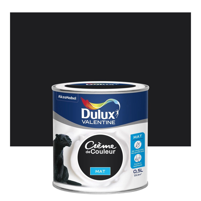 Peinture noir mat DULUX VALENTINE Crème de couleur 0.5 l