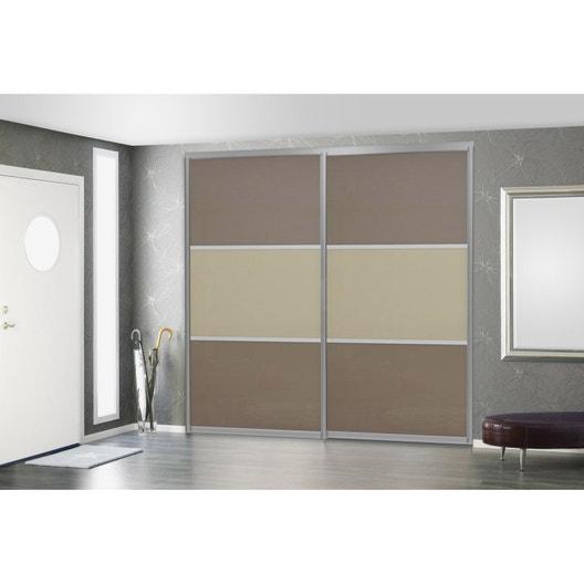 porte de placard coulissante sur mesure elfa ostersund de 60 1 80 cm leroy merlin. Black Bedroom Furniture Sets. Home Design Ideas