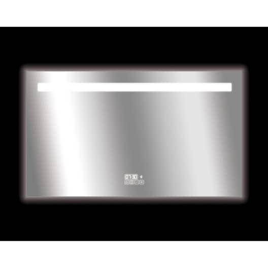 Lambris Bois Hydrofuge Salle De Bain ~ Miroir Connect Lumineux Avec Clairage Int Gr L 120 X H 70 Cm