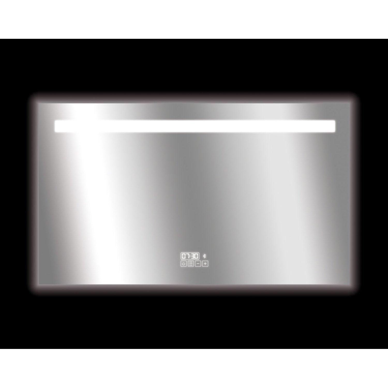 Miroir connecté lumineux avec éclairage intégré, l.120 cm Bluetooth ...