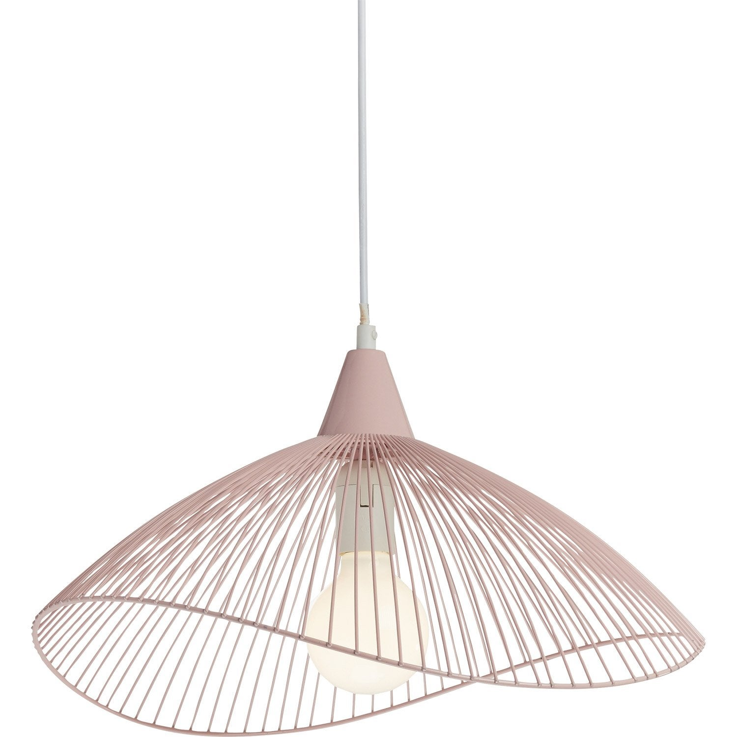 Suspension, e27 scandinave Kasteli métal rose SEYNAVE