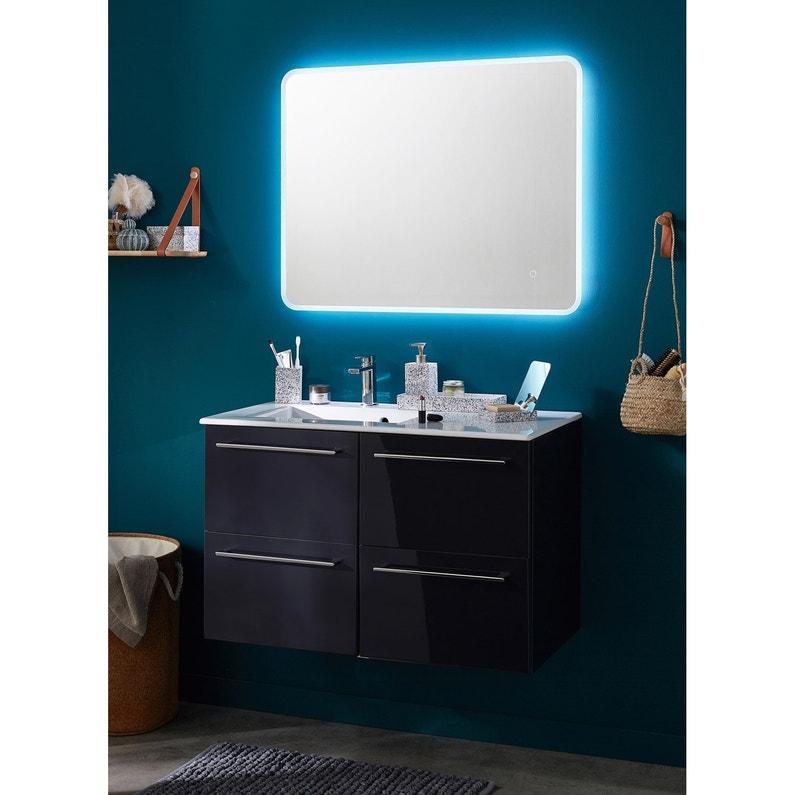Miroir Lumineux Avec Eclairage Integre L 90 X H 70 Cm Renzo