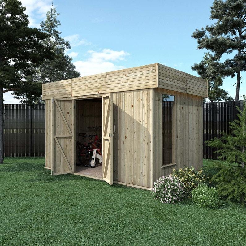 Abri de jardin bois Hutta xl contemporain Ep.15 mm, 7.76 m²