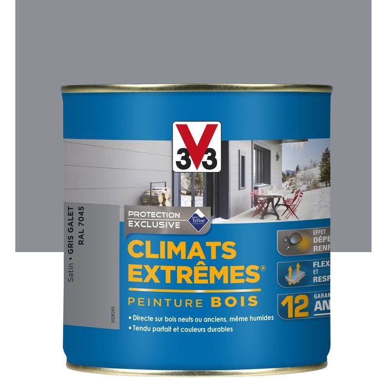 Peinture Bois Extérieur Climats Extrêmes V33 Gris Galet 05 L