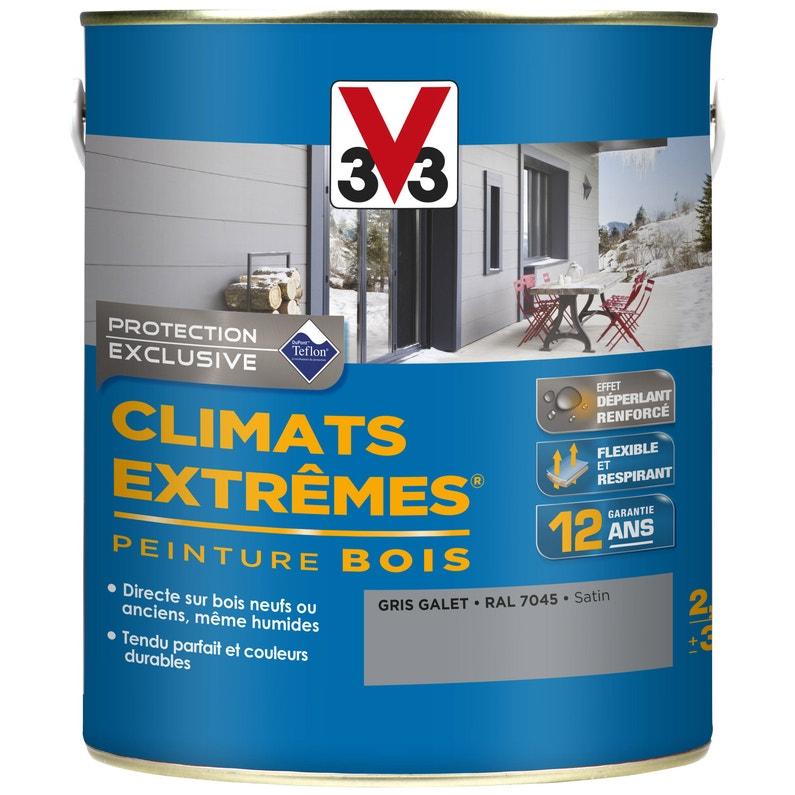 Peinture Bois Extérieur Climats Extrêmes V33 Gris Galet 25 L