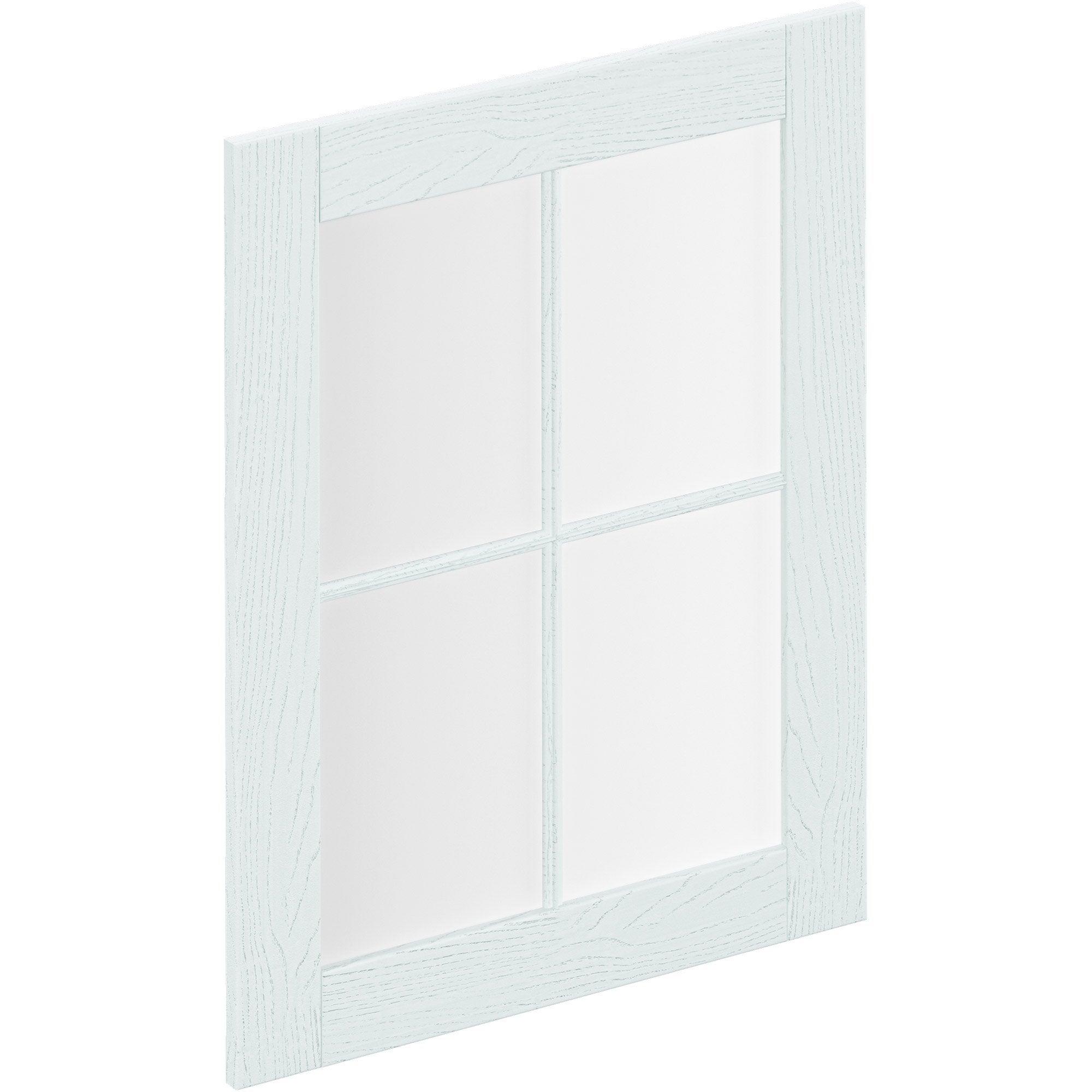 Porte de cuisine vitr e chicago gris clair delinia id x cm leroy merlin - Porte de cuisine vitree ...
