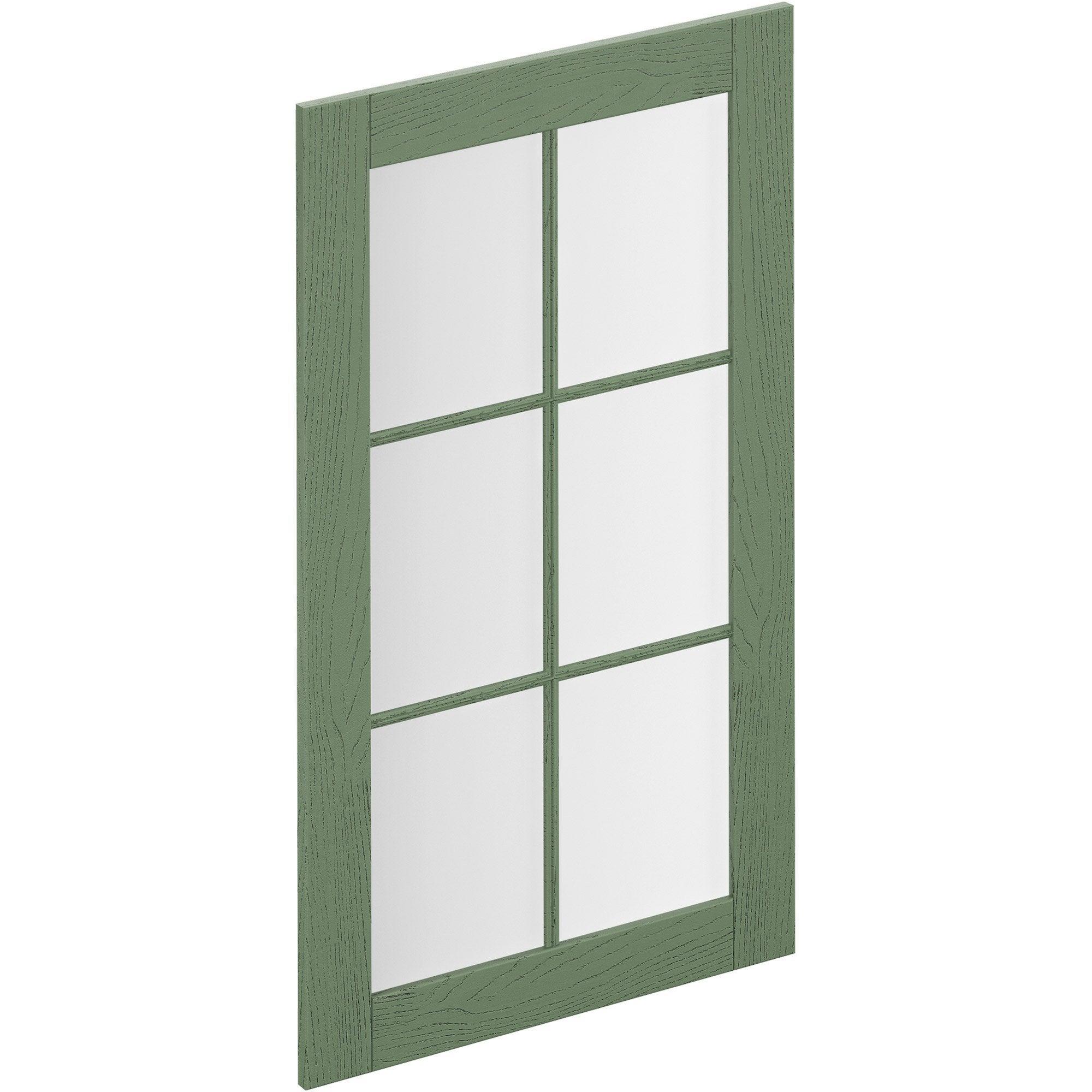 Porte de cuisine vitr e chicago vert delinia id x cm leroy merlin - Porte de cuisine vitree ...