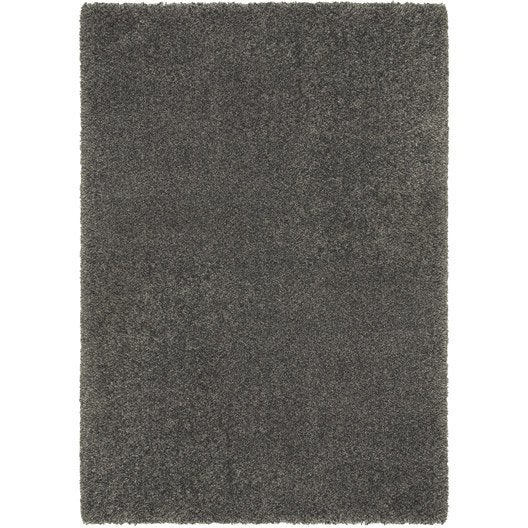 tapis gris shaggy royal x cm leroy merlin. Black Bedroom Furniture Sets. Home Design Ideas