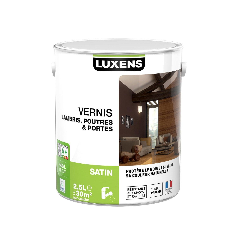 vernis poutre et lambris vernis poutres et lambris luxens 2 5 l incolore leroy merlin. Black Bedroom Furniture Sets. Home Design Ideas