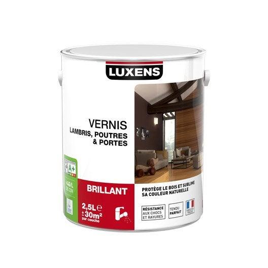 Vernis poutre et lambris luxens l incolore leroy merlin - Vernis bois incolore ...