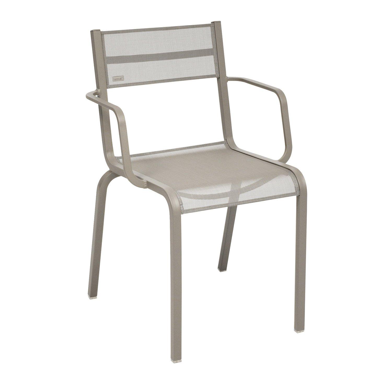 fauteuil de jardin en aluminium ol ron muscade leroy merlin. Black Bedroom Furniture Sets. Home Design Ideas