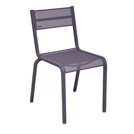Chaise de jardin en aluminium Oléron prune | Leroy Merlin